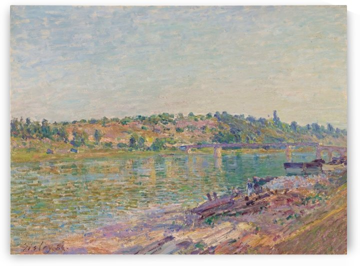 The Hill of Celle-Sous-Moret in Saint-Mammes by Alfred Sisley
