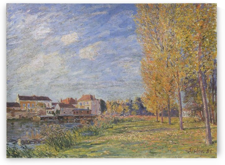 The Summer in Moret by Alfred Sisley