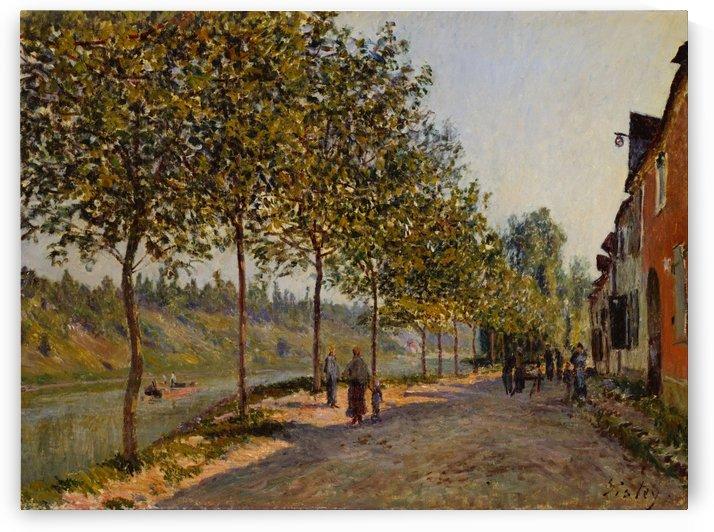 Saint-Mammes at Morning by Alfred Sisley
