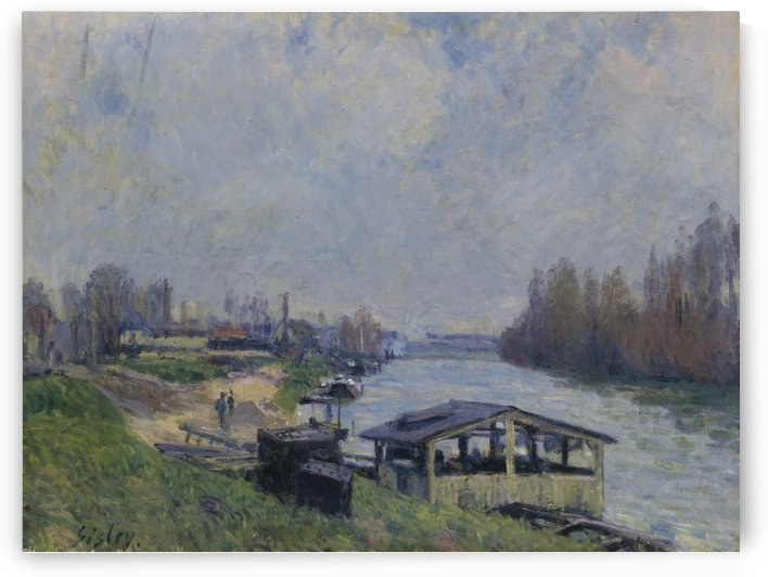 The Laundry at Billancourt by Alfred Sisley