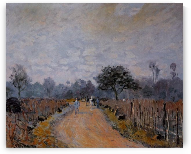 The Road of Prunay at Bougival by Alfred Sisley