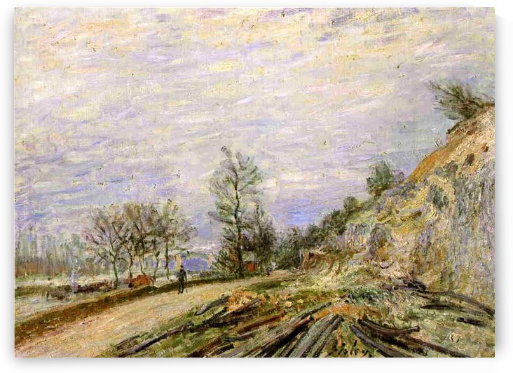 On the Road of Moret by Alfred Sisley