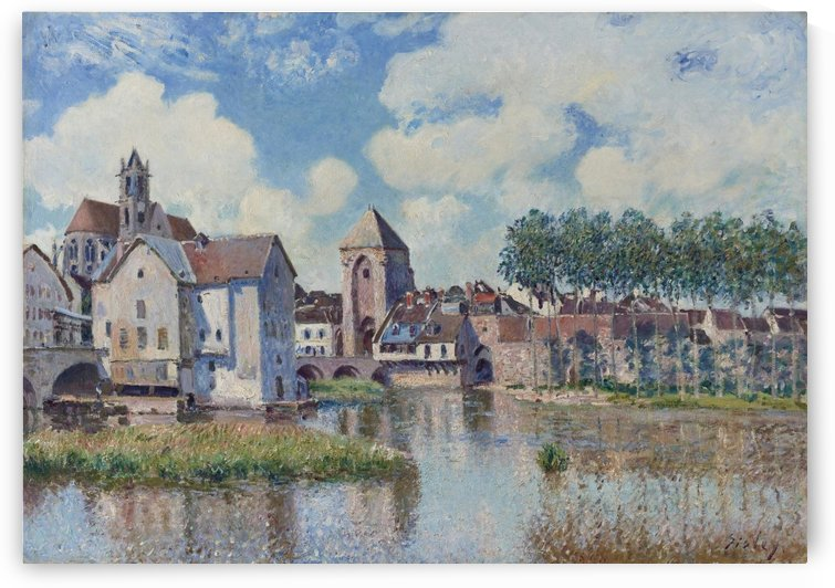 View of Moret-sur-Loing by Alfred Sisley