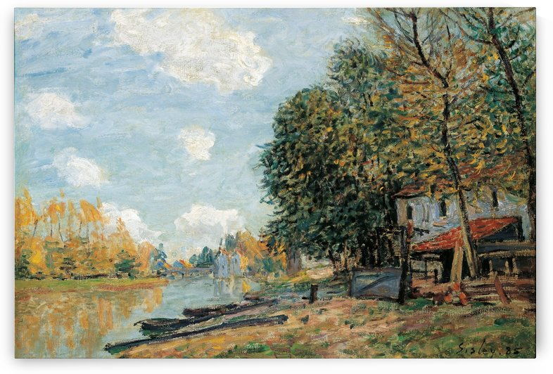 Laundresses at the River Bank by Alfred Sisley