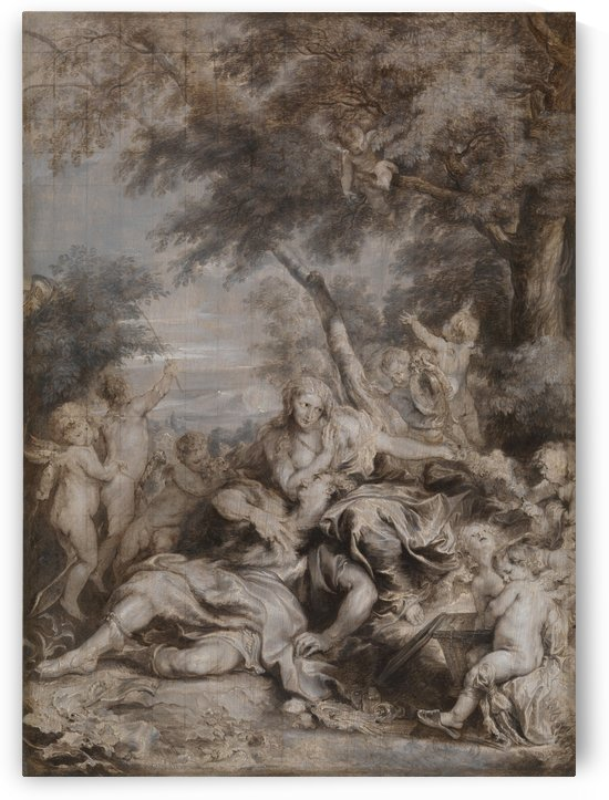 Rinaldo conquered by Love for Armida by Anthony van Dyck