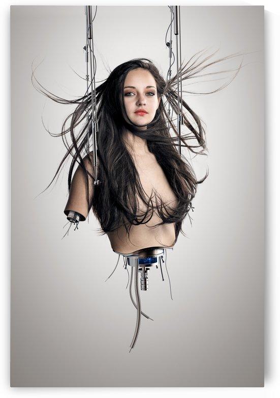Cyborg woman by Johan Swanepoel