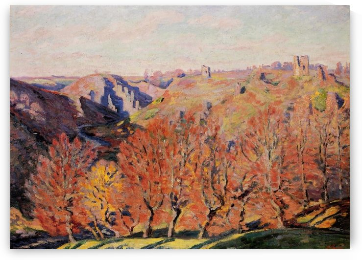 Landscape of the Creuse, Ruins of the Castle of Crozant by Armand Guillaumin