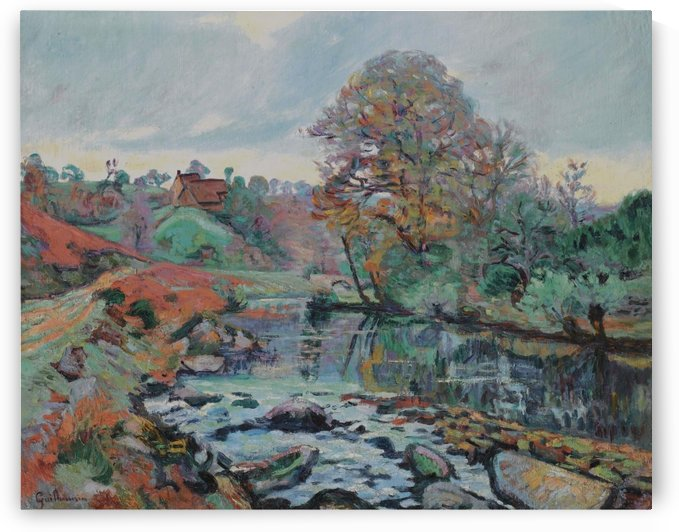 Landscape - View Facing from Charraud Bridge by Armand Guillaumin