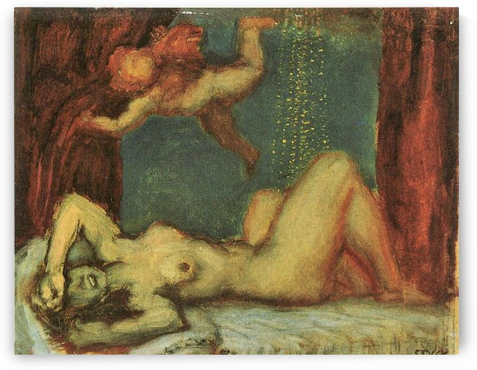 Danae by Franz von Stuck by Franz von Stuck