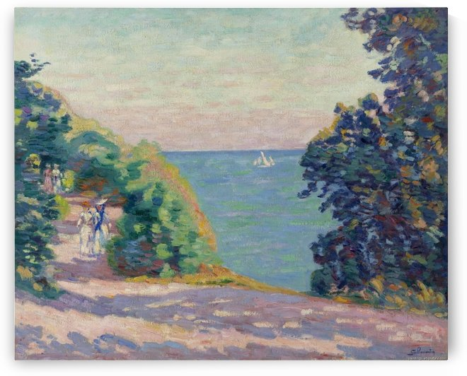 August Evening at Saint-Palais by Armand Guillaumin