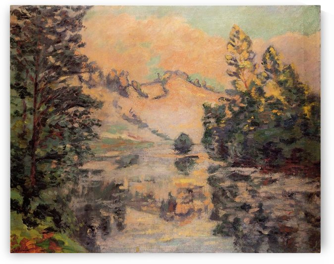Landscape of the Creuse, View on the Bridge of Charraud by Armand Guillaumin