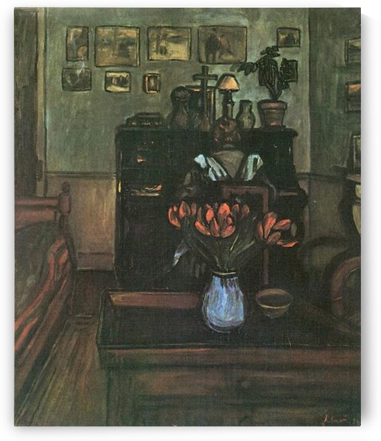 Dawn in an intimate room by Joseph Rippl-Ronai by Joseph Rippl-Ronai