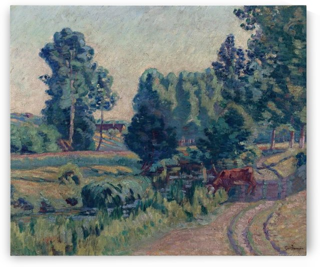 The Outskirts of Saint-Cheron by Armand Guillaumin