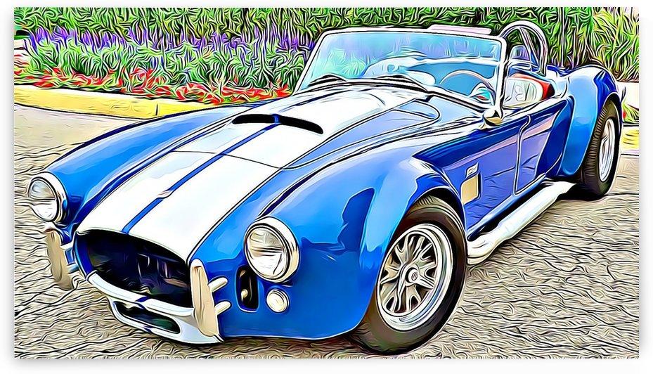 vintage sports car by MIRIAM