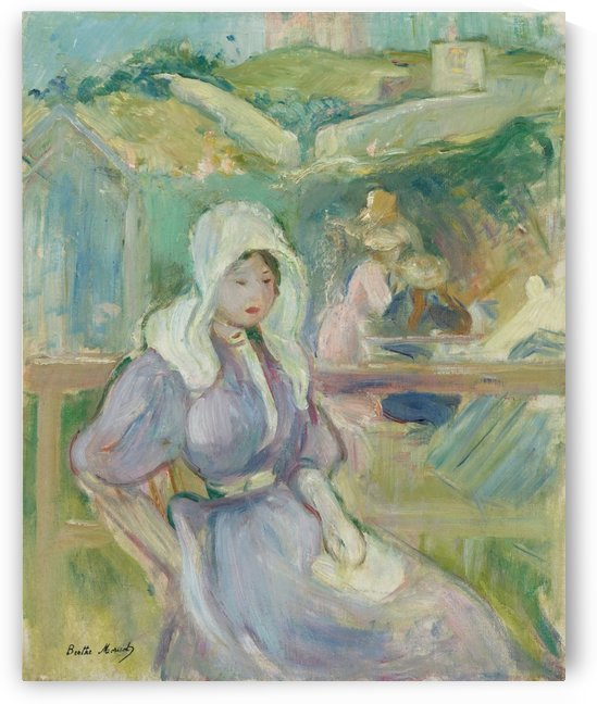 On the Beach at Portrieux by Berthe Morisot