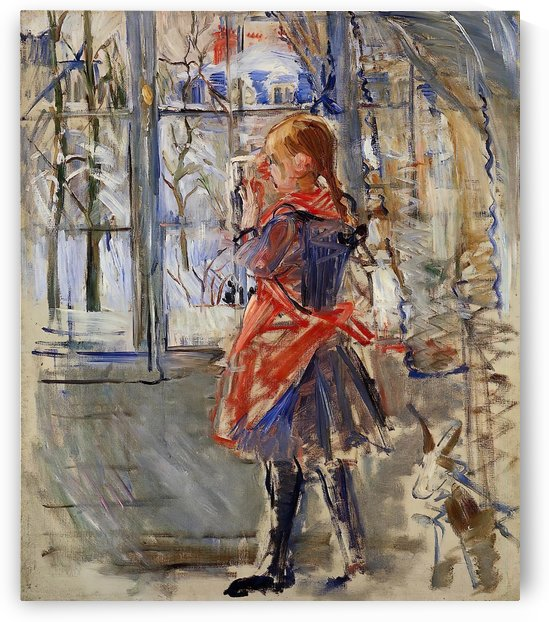 The Girl in a Red Apron by Berthe Morisot
