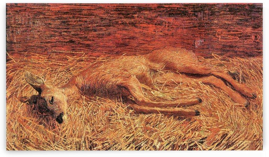 Dead deer by Albin Egger-Lienz by Albin Egger-Lienz