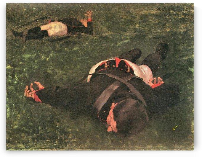 Dead Frenchmen by Albin Egger-Lienz by Albin Egger-Lienz