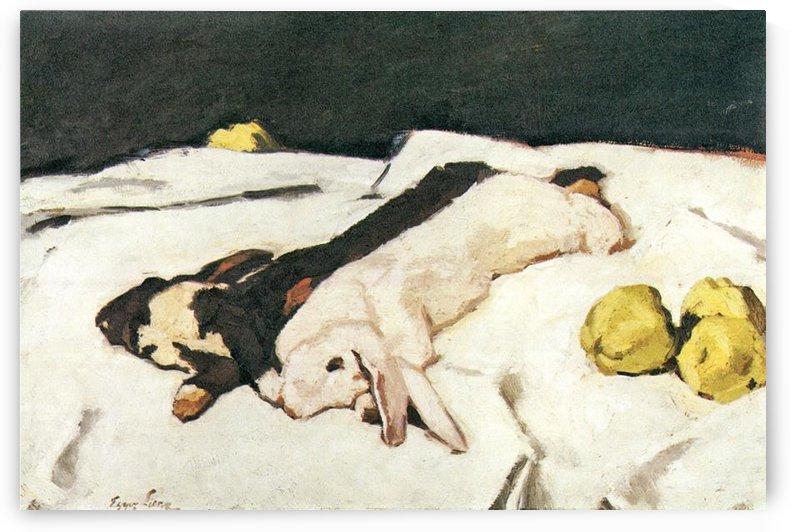 Dead hares by Albin Egger-Lienz by Albin Egger-Lienz