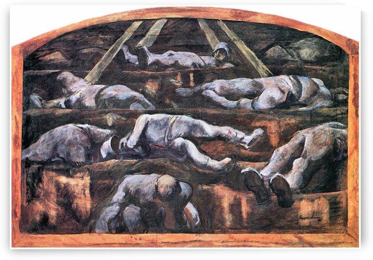 Dead victims, design (II) by Albin Egger-Lienz by Albin Egger-Lienz