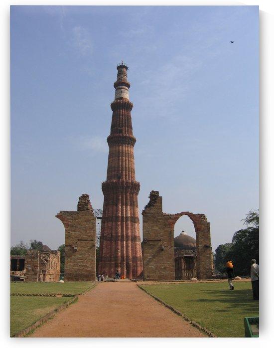 Qutub Minar New Delhi by Lalitha Murali