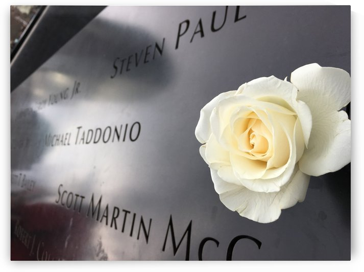 Rose at WTC Memorial New York by Lalitha Murali
