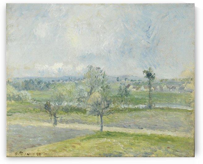 Rain Effect in Valhermeil, Auvers-sur-Oise by Camille Pissarro