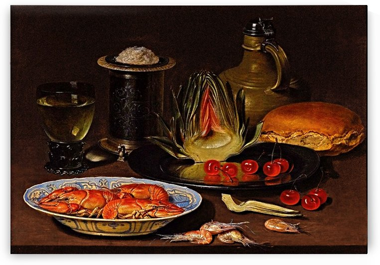 Still Life With Crayfish And An Artichoke_OSG by One Simple Gallery