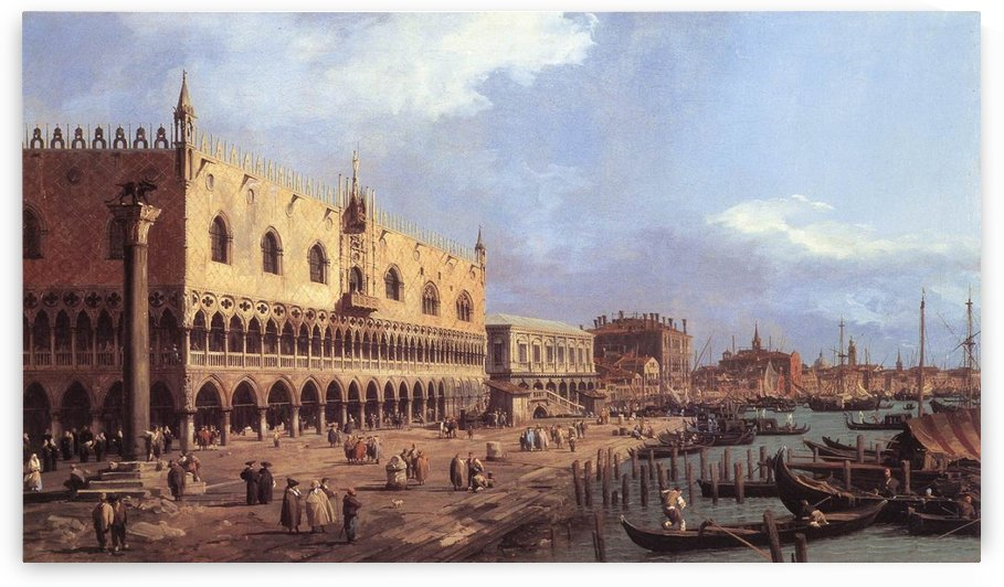 The Doge's Palace and the Riva degli Schiavoni by Canaletto