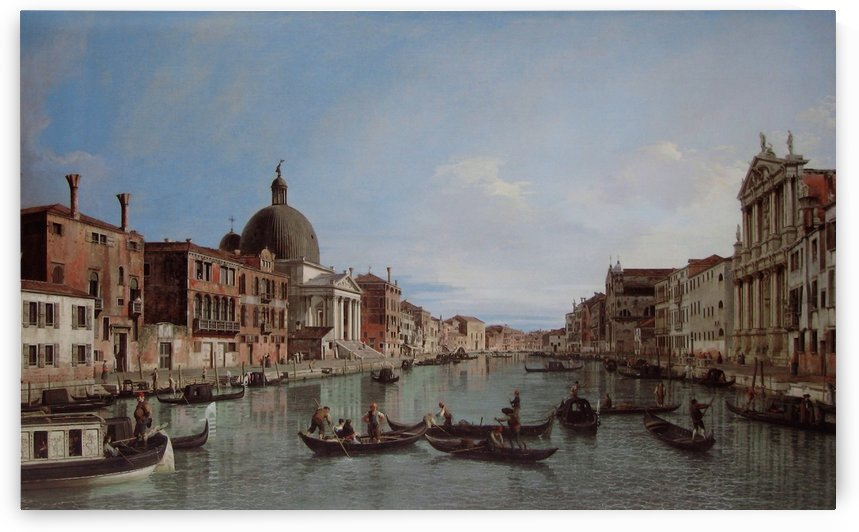 The Grand Canal with S. Simeone Piccolo by Canaletto