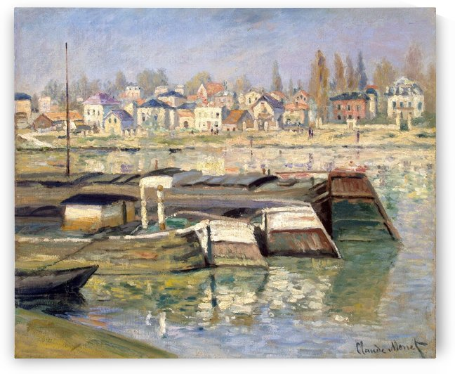 The Boats in Asnieres by Claude Monet