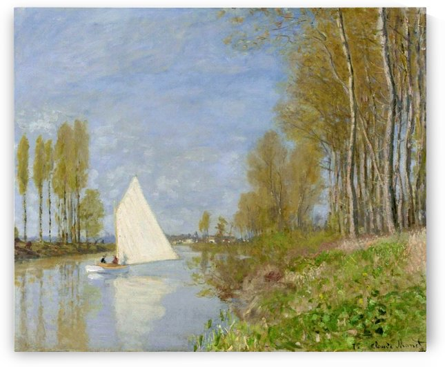 Small Boat on the Small Branch of the Seine at Argenteuil by Claude Monet
