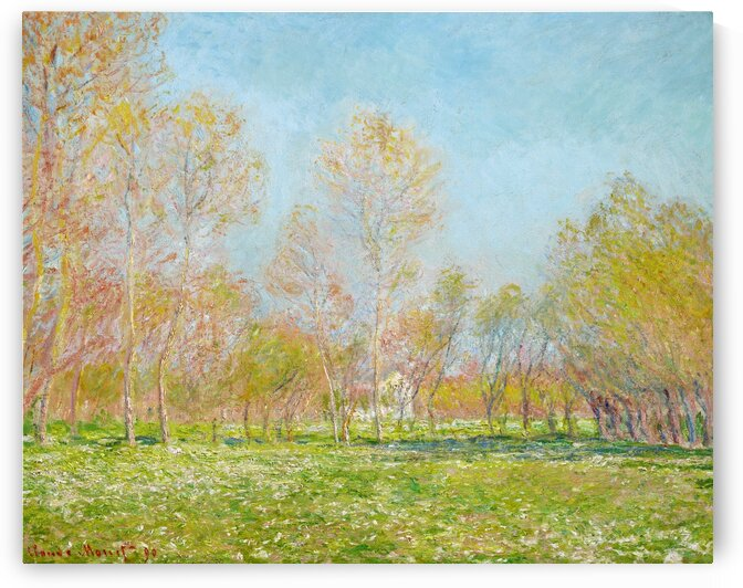 Spring Effect at Giverny by Claude Monet