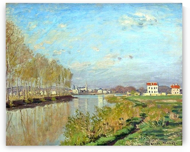 The Seine at Argenteuil by Claude Monet
