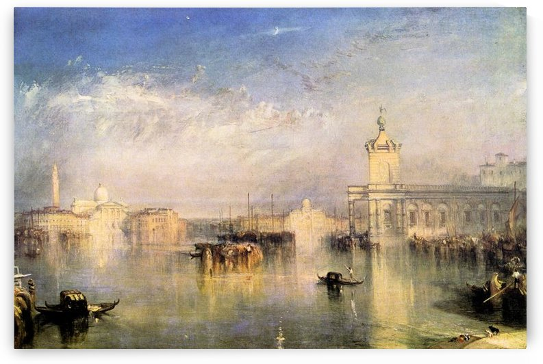 Dogano, San Giorgio, Citella from the steps of Europe by Joseph Mallord Turner by Joseph Mallord Turner