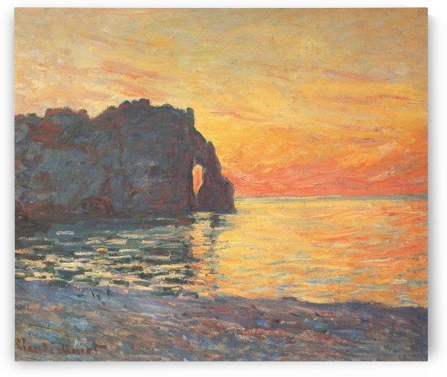 Etretat, Cliff of Aval by Claude Monet