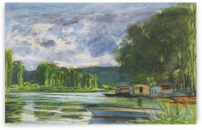 The Banks of the Seine near Jeufosse (Eure) by Claude Monet