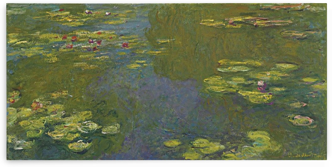 Nympheas (fragment) by Claude Monet