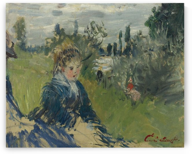 At the Meadow, Vetheuil by Claude Monet