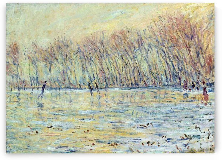 The Skaters at Giverny by Claude Monet