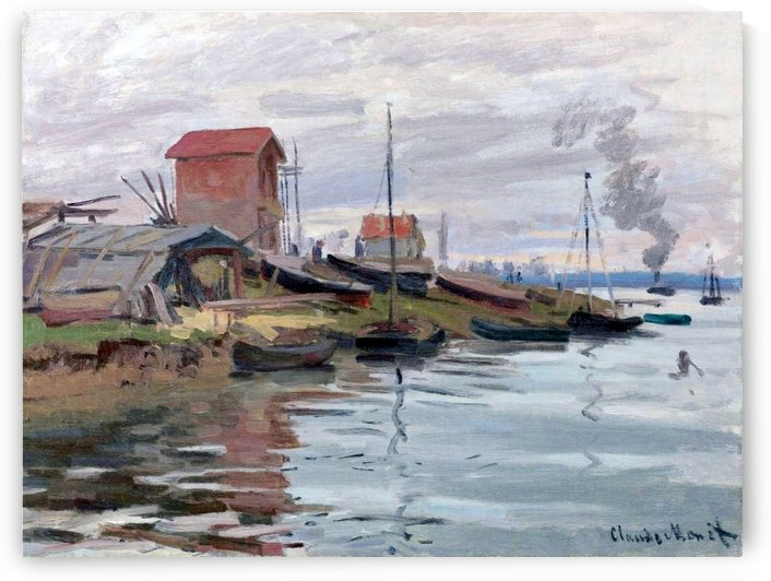 The Seine at Petit-Gennevilliers by Claude Monet
