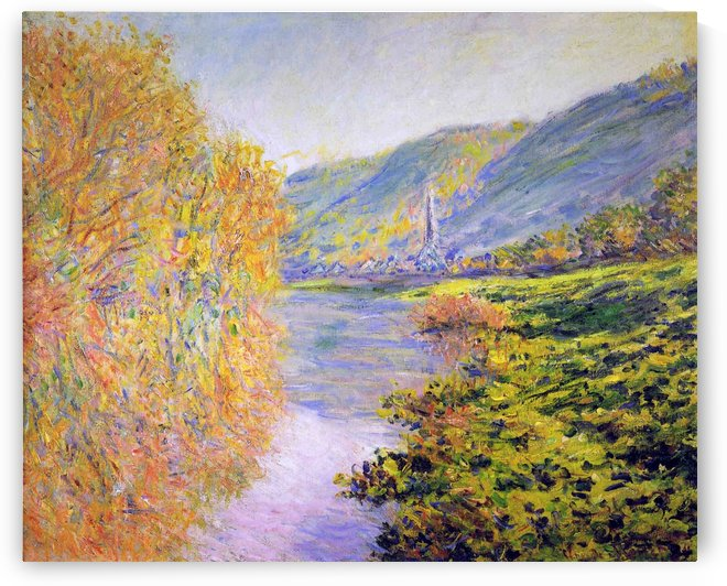 Banks of the Seine in Autumn by Claude Monet