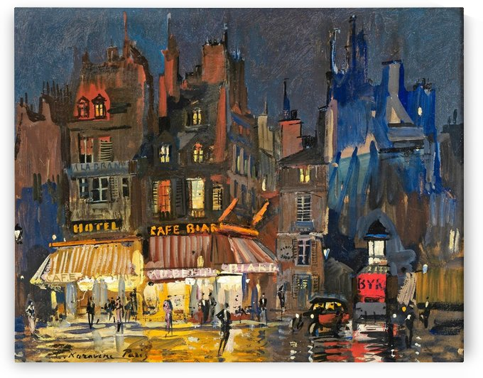 Paris by Night 02 by Constantin Korovin