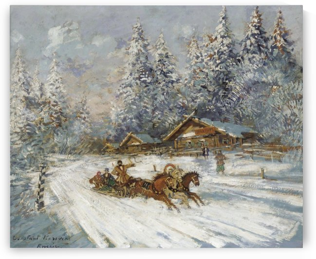 Troika Racing through the Snow by Constantin Korovin
