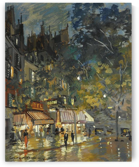 Paris by Night 03 by Constantin Korovin
