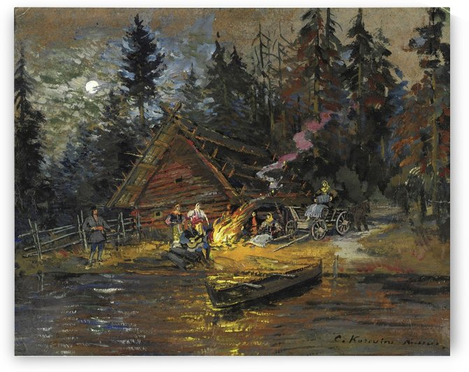 Songs around the Camp Fire by Constantin Korovin