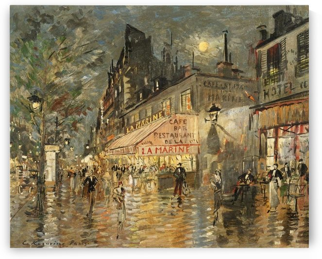 Cafe La Marin, Paris by Constantin Korovin