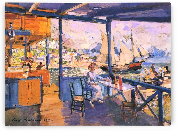 View from the Terrace, Gurzuf by Constantin Korovin