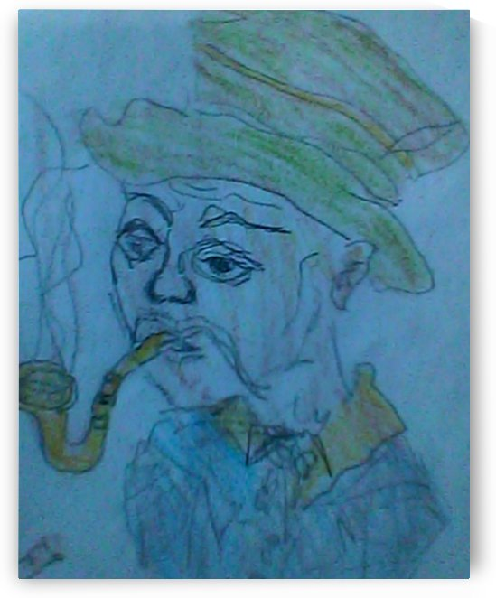 Art 39 Man with a Pipe (a beautiful ugly man) by Dragan Mrkalj