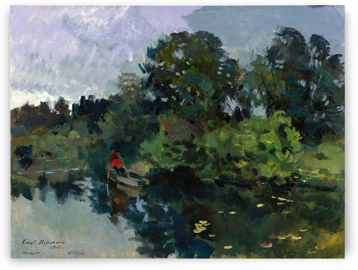 On the Lake with Lily Pads by Constantin Korovin